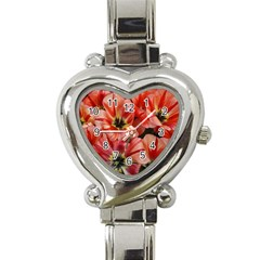Tulips Flowers Spring Heart Italian Charm Watch