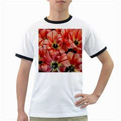 Tulips Flowers Spring Ringer T Shirts