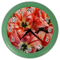 Tulips Flowers Spring Color Wall Clocks