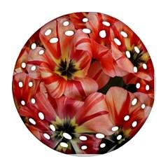 Tulips Flowers Spring Ornament (round Filigree)