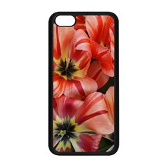 Tulips Flowers Spring Apple Iphone 5c Seamless Case (black)