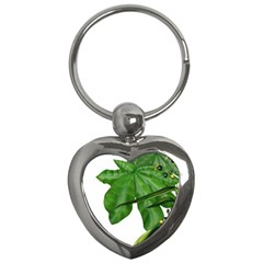 Plant Berry Leaves Green Flower Key Chains (heart)