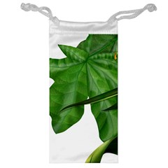 Plant Berry Leaves Green Flower Jewelry Bag