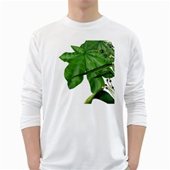 Plant Berry Leaves Green Flower White Long Sleeve T Shirts
