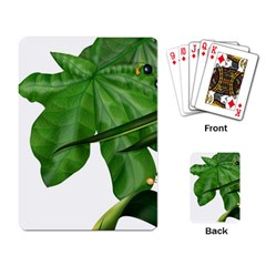 Plant Berry Leaves Green Flower Playing Card