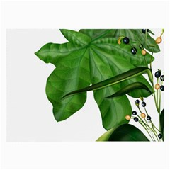Plant Berry Leaves Green Flower Large Glasses Cloth (2 Side)