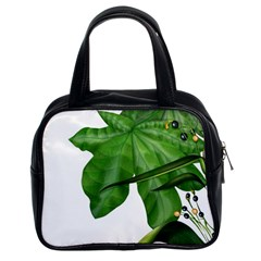 Plant Berry Leaves Green Flower Classic Handbags (2 Sides)
