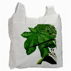 Plant Berry Leaves Green Flower Recycle Bag (two Side)