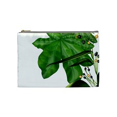 Plant Berry Leaves Green Flower Cosmetic Bag (medium)