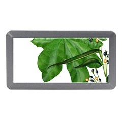 Plant Berry Leaves Green Flower Memory Card Reader (mini)