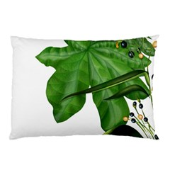 Plant Berry Leaves Green Flower Pillow Case (two Sides)