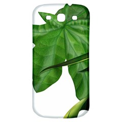 Plant Berry Leaves Green Flower Samsung Galaxy S3 S Iii Classic Hardshell Back Case