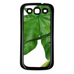 Plant Berry Leaves Green Flower Samsung Galaxy S3 Back Case (black)