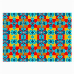 Pop Art Abstract Design Pattern Large Glasses Cloth (2 Side)