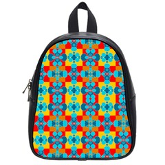 Pop Art Abstract Design Pattern School Bag (small)