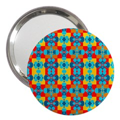 Pop Art Abstract Design Pattern 3  Handbag Mirrors