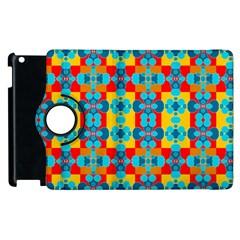 Pop Art Abstract Design Pattern Apple Ipad 3/4 Flip 360 Case