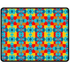 Pop Art Abstract Design Pattern Double Sided Fleece Blanket (medium)