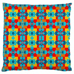 Pop Art Abstract Design Pattern Large Flano Cushion Case (two Sides) by BangZart