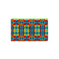 Pop Art Abstract Design Pattern Cosmetic Bag (xs)