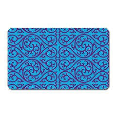 Monogram Blue Purple Background Magnet (rectangular)