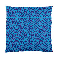 Monogram Blue Purple Background Standard Cushion Case (two Sides)