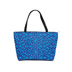 Monogram Blue Purple Background Shoulder Handbags
