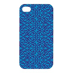 Monogram Blue Purple Background Apple Iphone 4/4s Hardshell Case