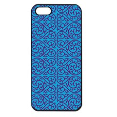 Monogram Blue Purple Background Apple Iphone 5 Seamless Case (black)