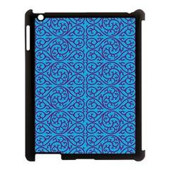 Monogram Blue Purple Background Apple Ipad 3/4 Case (black)