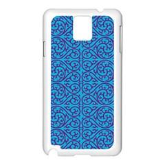 Monogram Blue Purple Background Samsung Galaxy Note 3 N9005 Case (white)
