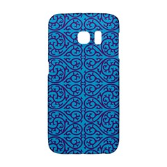 Monogram Blue Purple Background Galaxy S6 Edge
