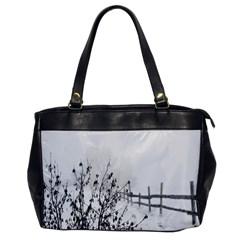 Snow Winter Cold Landscape Fence Office Handbags