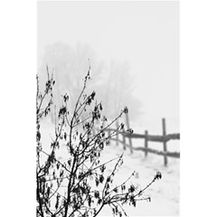 Snow Winter Cold Landscape Fence 5 5  X 8 5  Notebooks