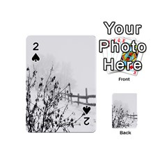 Snow Winter Cold Landscape Fence Playing Cards 54 (mini)