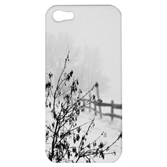 Snow Winter Cold Landscape Fence Apple Iphone 5 Hardshell Case