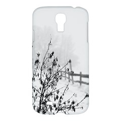 Snow Winter Cold Landscape Fence Samsung Galaxy S4 I9500/i9505 Hardshell Case