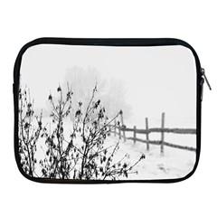 Snow Winter Cold Landscape Fence Apple Ipad 2/3/4 Zipper Cases