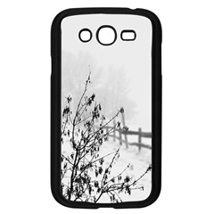 Snow Winter Cold Landscape Fence Samsung Galaxy Grand Duos I9082 Case (black)