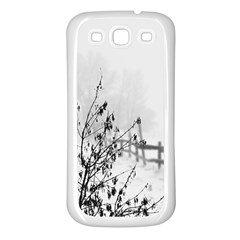 Snow Winter Cold Landscape Fence Samsung Galaxy S3 Back Case (white)