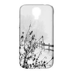 Snow Winter Cold Landscape Fence Samsung Galaxy S4 Classic Hardshell Case (pc+silicone)