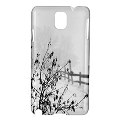 Snow Winter Cold Landscape Fence Samsung Galaxy Note 3 N9005 Hardshell Case