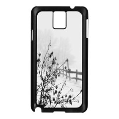 Snow Winter Cold Landscape Fence Samsung Galaxy Note 3 N9005 Case (black) by BangZart