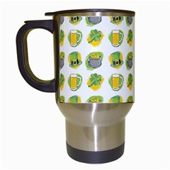 St Patrick S Day Background Symbols Travel Mugs (white)