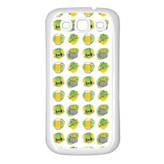 St Patrick S Day Background Symbols Samsung Galaxy S3 Back Case (white)