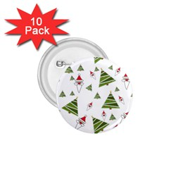Christmas Santa Claus Decoration 1 75  Buttons (10 Pack) by BangZart