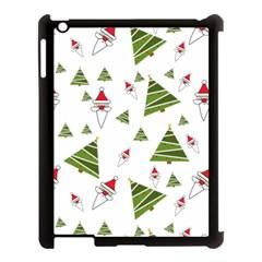 Christmas Santa Claus Decoration Apple Ipad 3/4 Case (black)