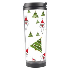 Christmas Santa Claus Decoration Travel Tumbler by BangZart