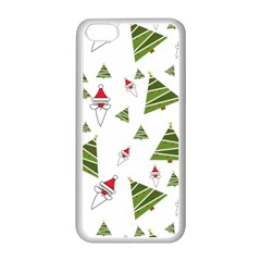 Christmas Santa Claus Decoration Apple Iphone 5c Seamless Case (white)