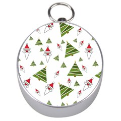Christmas Santa Claus Decoration Silver Compasses by BangZart